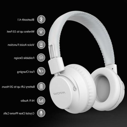 Wireless Headphones Bluetooth Headset Noise Cancelling Over