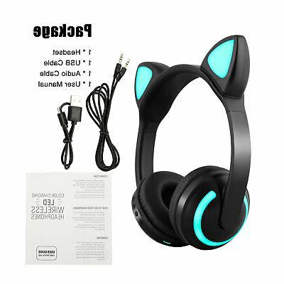 For Kids Ear Bluetooth Wireless LED US