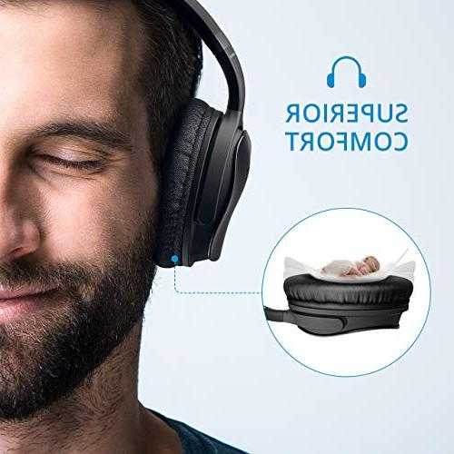 Mpow Active Noise Cancelling Headphones, Superior Deep Bass ANC Over Wireless Bluetooth w/Mic, 30Hrs Comfortable Protein Earpads for