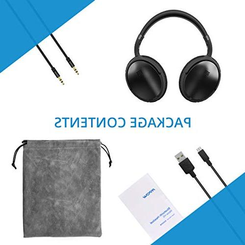 Cancelling Bass Wireless Bluetooth 30Hrs Playtime Protein Earpads for PC/Cell Phone