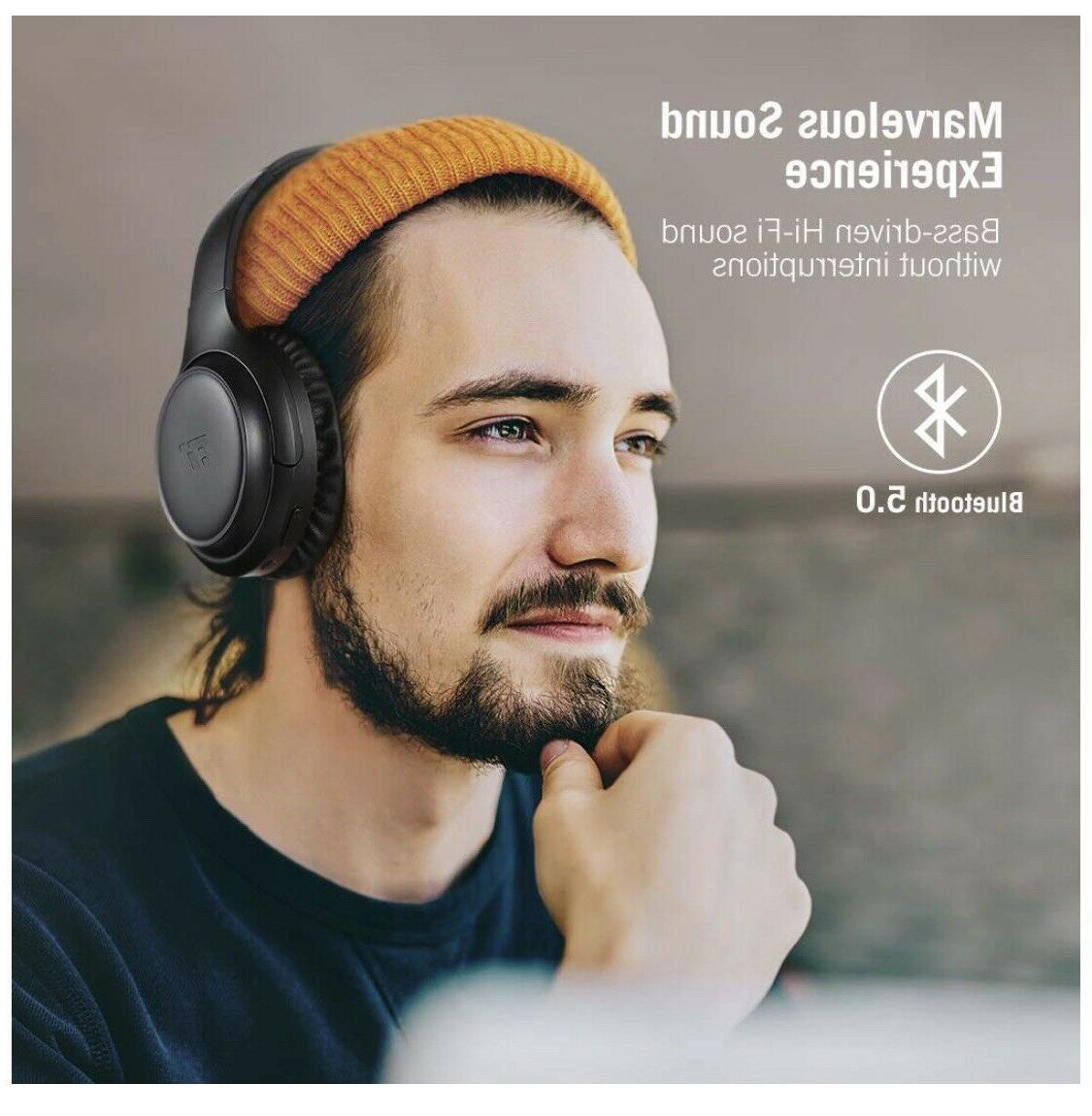 TaoTronics 2019 Upgraded Bluetooth Active Noise Cancelling TT-BH060