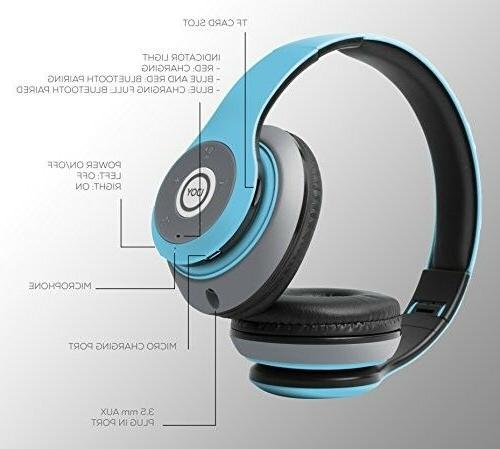 Headphones bluetooth By Foldable Mic.