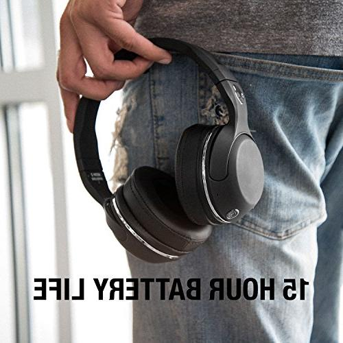 Skullcandy Hesh 2 Wireless Over-Ear Microphone, Powerful Bass, 15-Hour Battery, Soft Synthetic Leather Ear Cushions,