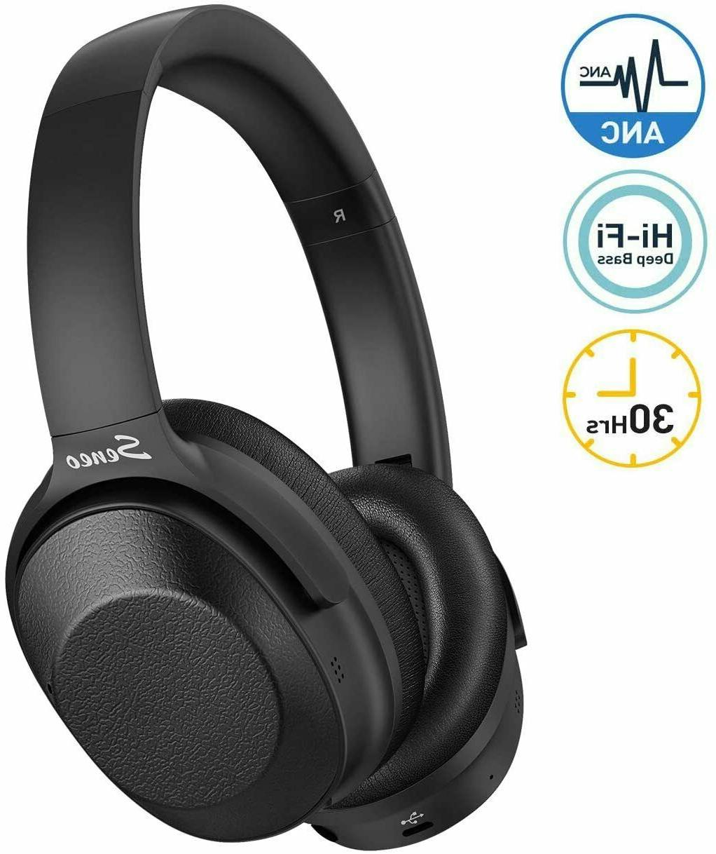 hybrid active noise cancelling over ear headphones