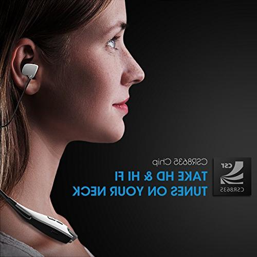 Mpow Jaws Gen-3 Bluetooth Headphones Headset V4.1, W/Call Alert, Mic, Cell Phone/Tablets/TV