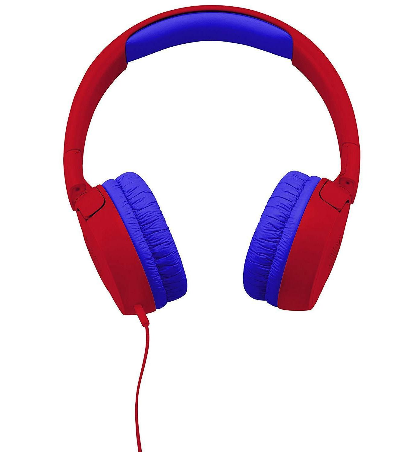 JBL JR300BT Bluetooth Headphone Volume Red