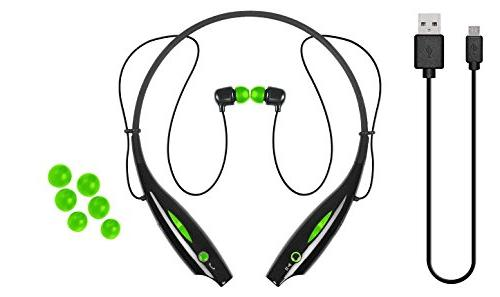 logo wireless bluetooth neckband headphones