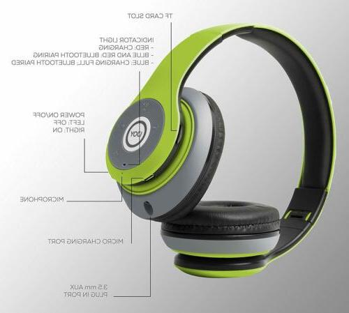 Matte Rechargeable Wireless Foldable Ear Headphones with Mic