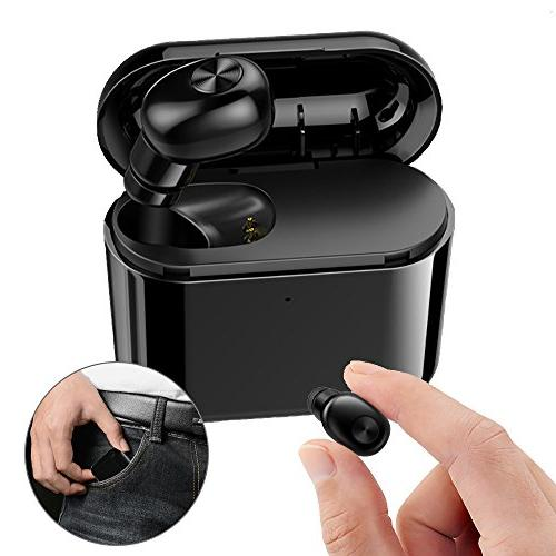 Mini Single Wireless BT V4.1 Small Earpiece Calls Headset With Charging Samsung 1Pcs