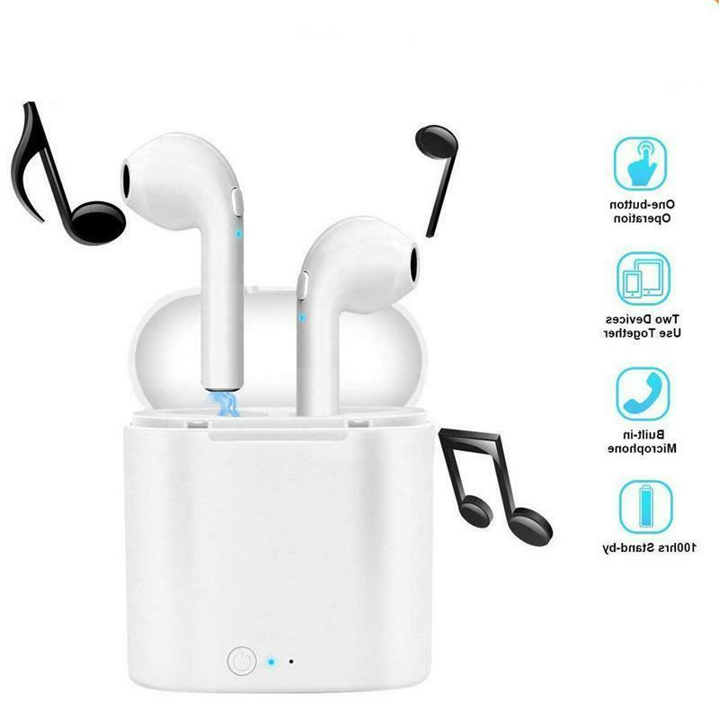 new bluetooth wireless earbuds i7s two in