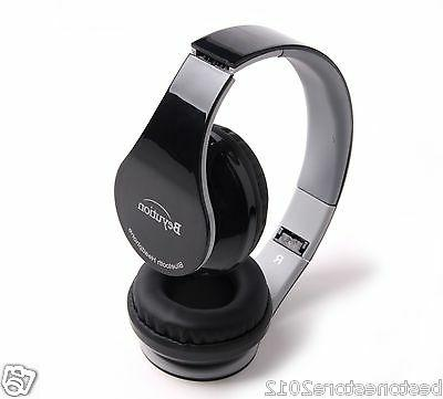 Black Stereo Bluetooth V4.0 Headphones fit smart cell