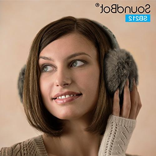 SoundBot SB212 HD Stereo Bluetooth Earmuffs Headphone,Up Hrs of Time, Up 8 of Talk Standby Build-in