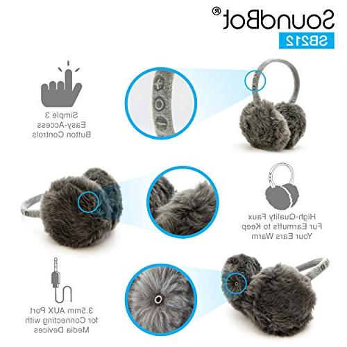 SoundBot Bluetooth 4.1 Wireless Earmuffs Hrs of Up to 8 Hrs of Talk Time,60 Hrs Standby Build-in Mic