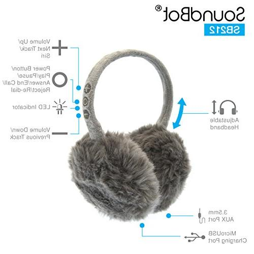 SoundBot HD Stereo Bluetooth 4.1 Earmuffs Hrs Play Up to Hrs of Standby