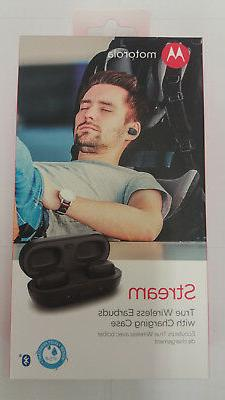 Motorola Stream True Wireless Stereo Earbuds with Charging C