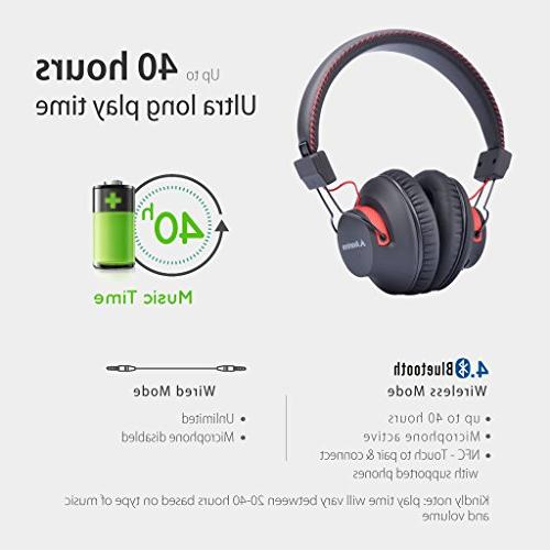 Avantree Wireless Wired Headphones Mic, aptX HiFi Headset, and NFC, for PC Cell Laptop Audition