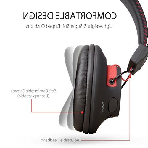 Avantree hr Wired Headphones with HiFi COMFORTABLE and LIGHTWEIGHT, NFC, for Cell Laptop -