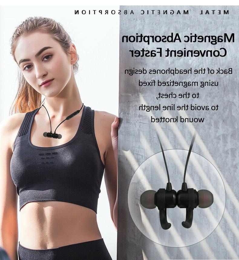 Sweatproof Bluetooth Headphones Noise Cancelling Earbuds Gym