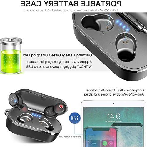 TOZO T10 Bluetooth 5.0 Stereo】 Headphones in-Ear Built-in Sound Deep for Running Sport