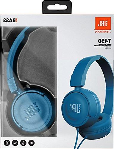 JBL Pure Bass Sound 1-Button Remote with Microphone Blue