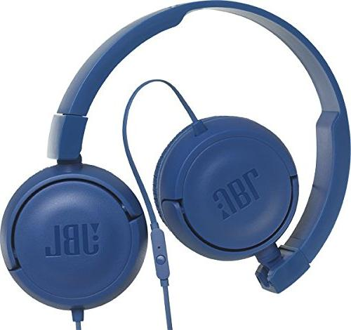 JBL Sound with Microphone On-Ear Headphones Blue