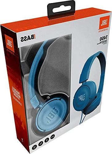 JBL Pure Bass Sound with with On-Ear Blue