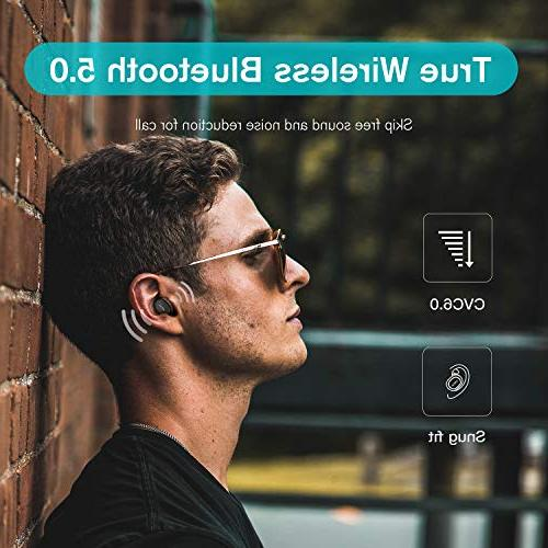QCY Wireless Bluetooth 5.0 Earbuds, 3D Stereo Headphones, Cancelling, Mic iPhone