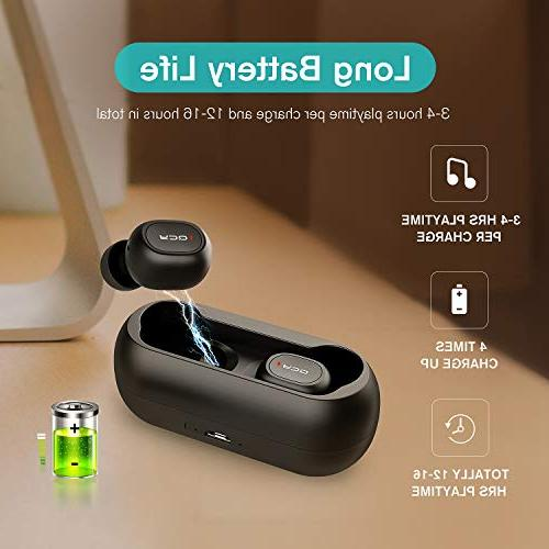 QCY True Wireless Bluetooth 5.0 Headphones, Earphones Cancelling, Built-in iPhone