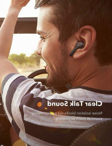 True Earbuds, Bluetooth Headphones V5.0 TWS in-Ear...