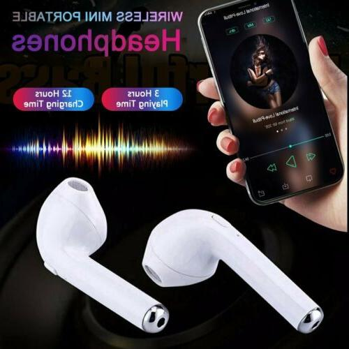 TWS Wireless Headphones Earbuds iPhone 7 8 X With Charger Case