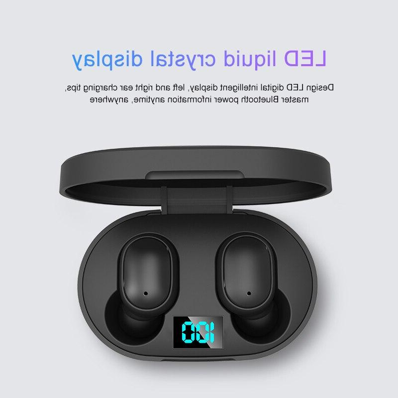 TWS Redmi Earbuds Display <font><b>Bluetooth</b></font> V5.0 Headsets Mic For iPhone Samsung A6S
