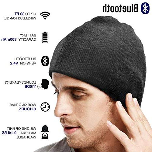 XIKEZAN Upgraded Knit Bluetooth V4.2 Christmas Gifts for Men/Dad/Women/Mom/Teen Stocking Stuffer w/Built-in Speakers