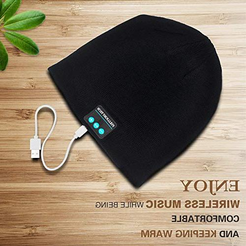Upgraded Hat Wireless Winter Music Knit Stereo & Unique Tech for Women Mom Men Teens