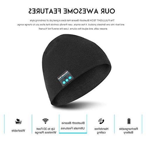 Upgraded V4.2 Beanie Hat Headphones Wireless Headset Winter Music Speaker Knit Cap with Stereo & Unique Christmas Tech Men Boys