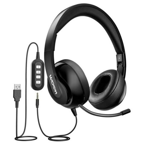 usb 3 5mm hd stereo headset headband
