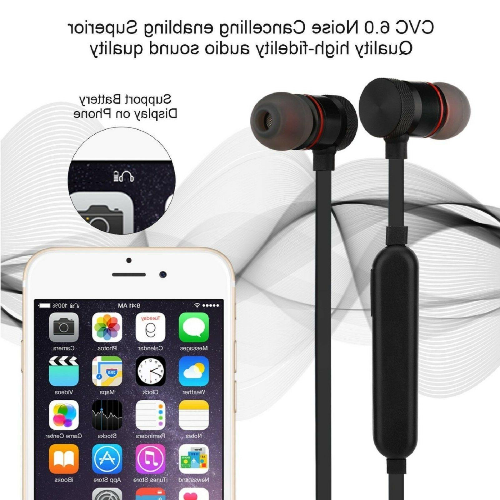 Bluetooth Earbuds Wireless Headphones Ear Headsets w/Mic