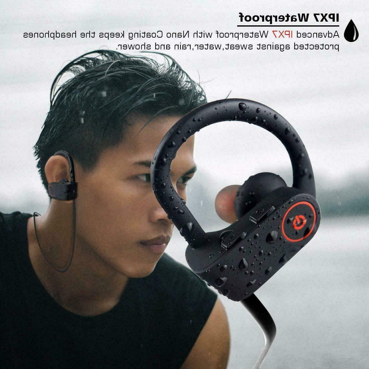 Waterproof Bluetooth Earbuds Sports in Ear