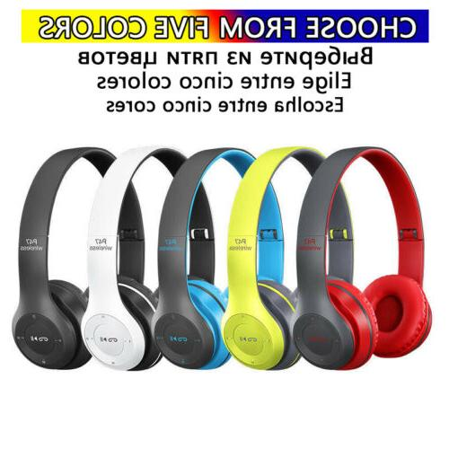 Foldable Over-Ear Bluetooth Stereo Headset