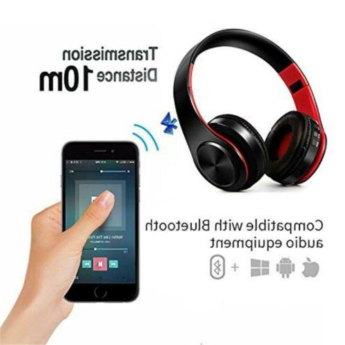 Wireless Headphones Over Ear HiFi Foldable