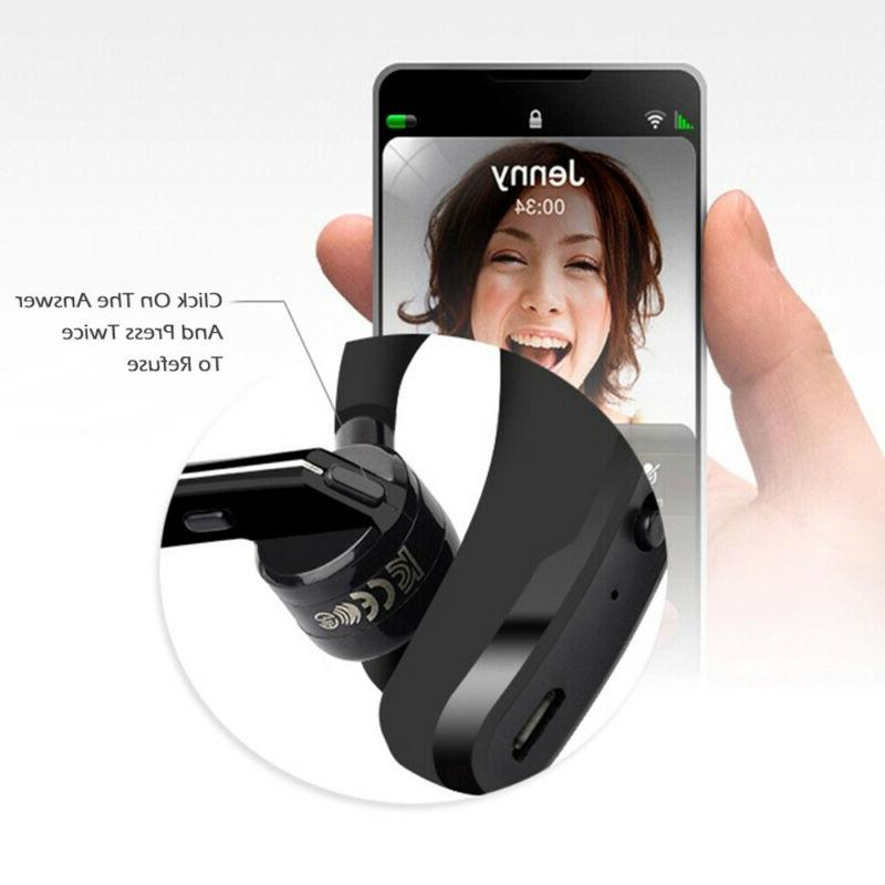 Wireless Bluetooth Headset Earpiece Buds Mic Handsfree