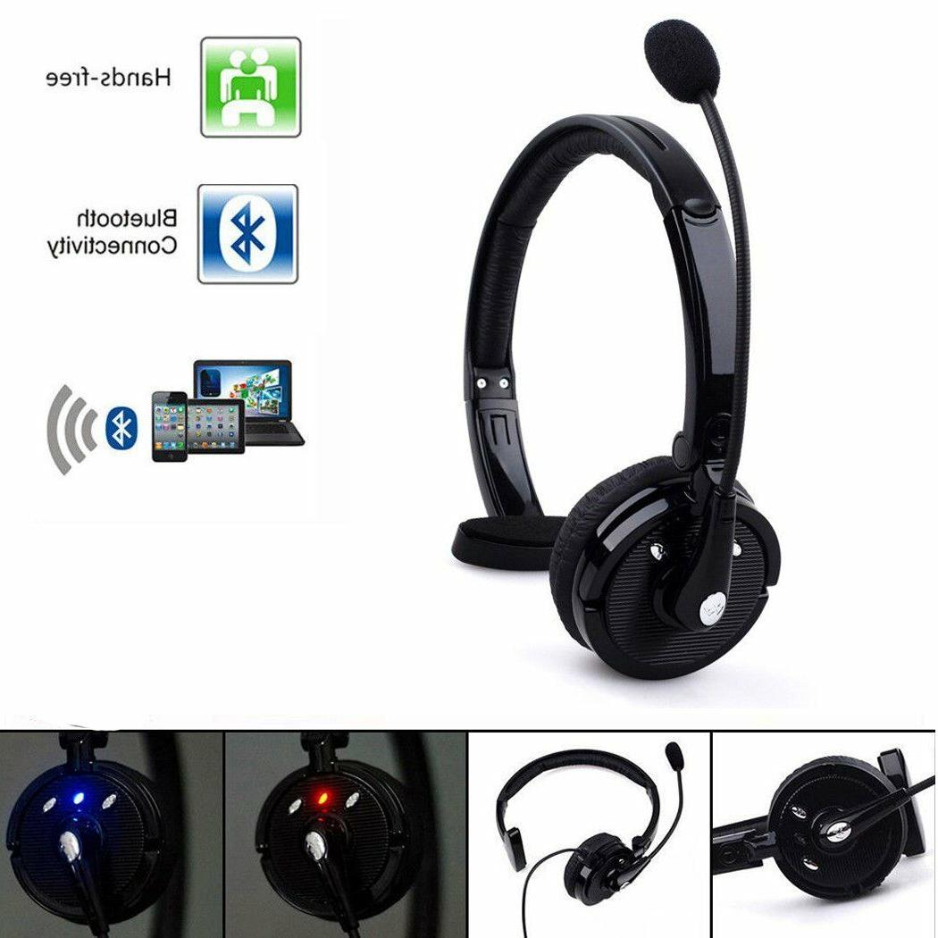 Wireless Bluetooth Noise Canceling Headset Headphone w/ Mic