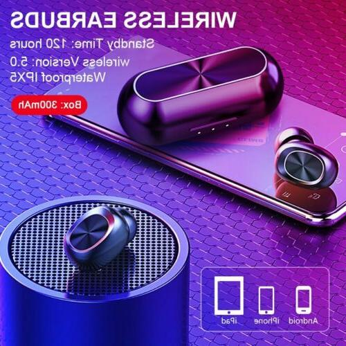 Bluetooth 5.0 True Wireless Earbuds Sports Headsets Touch He