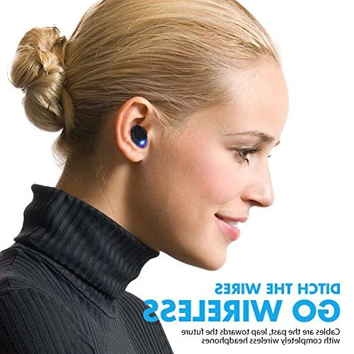 Wireless 5.0 Noise Mini IPX5 Sweatproof Invisible Sports in Earphones Built-in Mic for