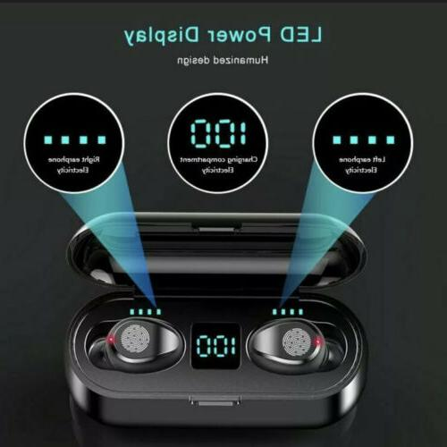 Wireless Earbuds Bluetooth 5.0 Touch with Phone Black