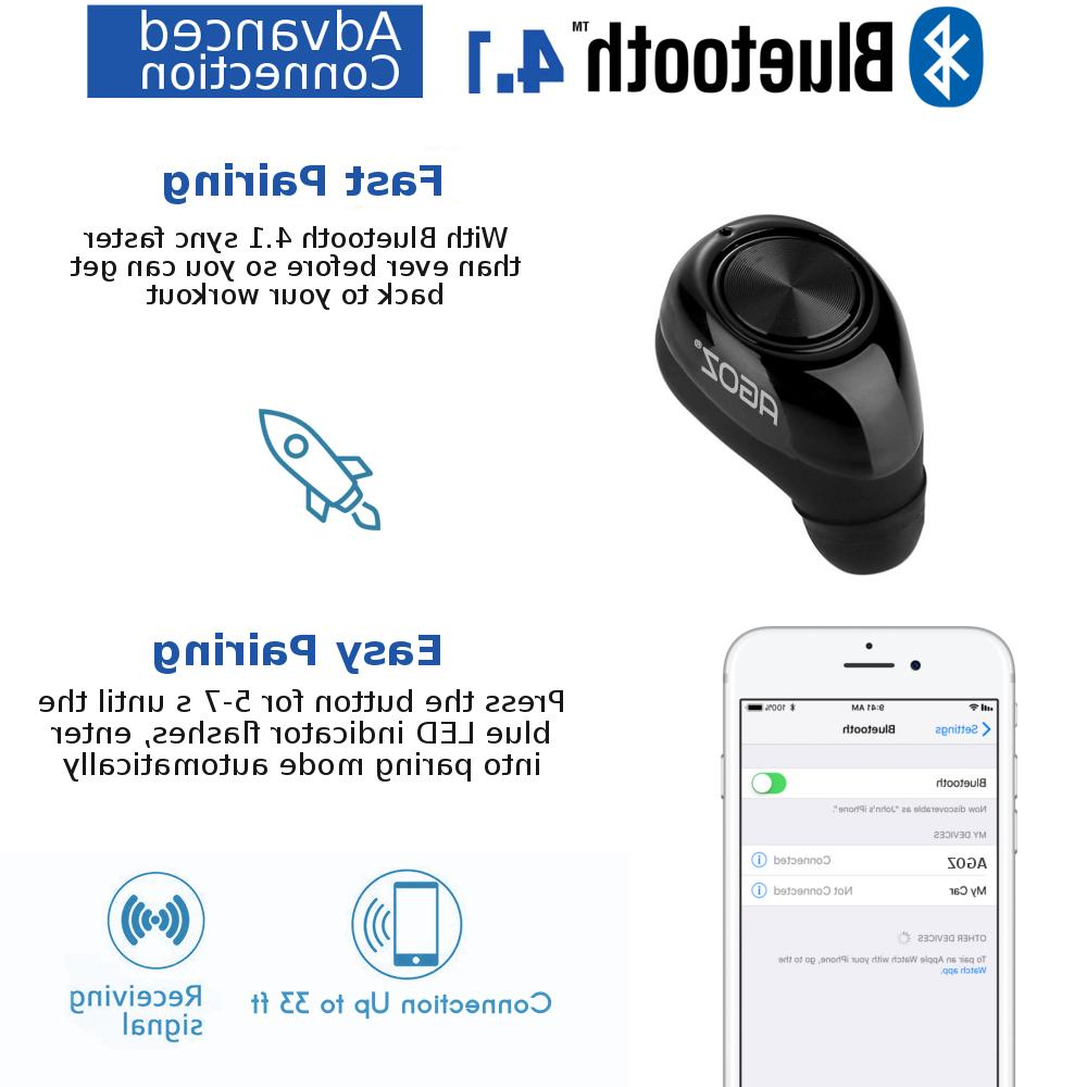 Mini Wireless Earbud Invisible Headset for