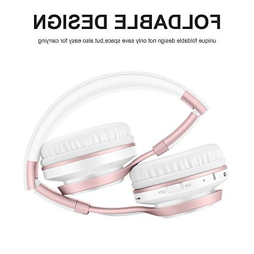 Bluetooth with Mic, Lightweight Protein Earmuffs, Card Wired Mode TV Women