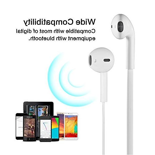 LBell Wireless Stereo earbuds Built-in Noise Headphones with iPhone and Phones