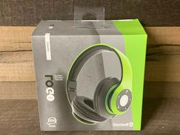 iJoy Logo Premium Wirelss Headphones Over-Ear Black/Green NE