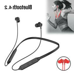 Neckband Bluetooth Headphones Magnetic Wireless Earbuds Spor