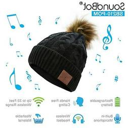 NEW SoundBot Bluetooth Wireless Beanie Musical Knit Headset